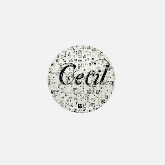 Cecil, Matrix, Abstract Art Mini Button