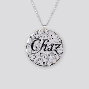 Chaz, Matrix, Abstract Art Necklace Circle Charm