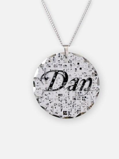 Dan, Matrix, Abstract Art Necklace