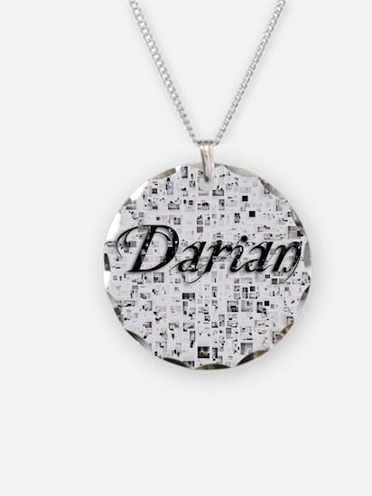 Darian, Matrix, Abstract Art Necklace