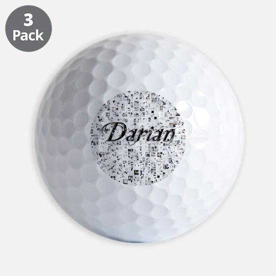 Darian, Matrix, Abstract Art Golf Ball