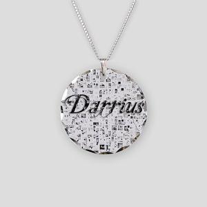 Darrius, Matrix, Abstract Ar Necklace Circle Charm