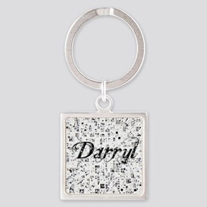 Darryl, Matrix, Abstract Art Square Keychain