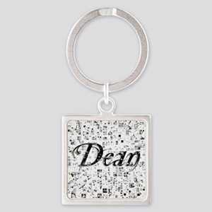 Dean, Matrix, Abstract Art Square Keychain