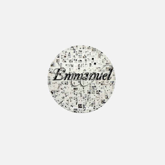 Emmanuel, Matrix, Abstract Art Mini Button