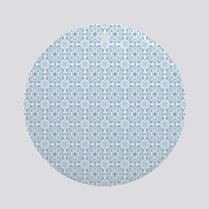 Amara Cornflower Shower curtain Round Ornament