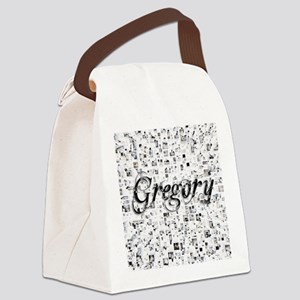 Gregory, Matrix, Abstract Art Canvas Lunch Bag