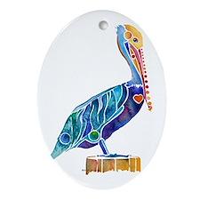 Penny Pelican Oval Ornament