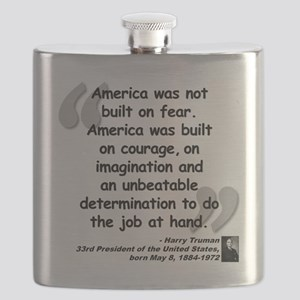 Truman Courage Quote Flask