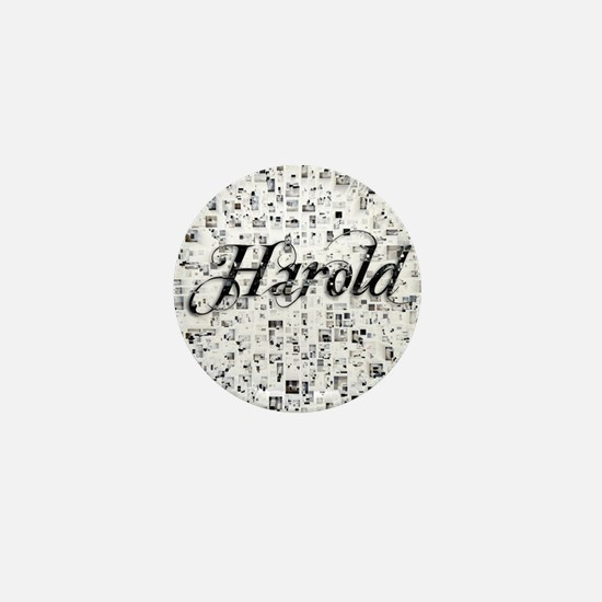 Harold, Matrix, Abstract Art Mini Button