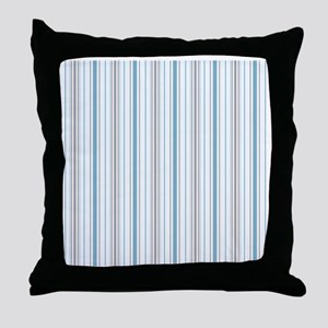 Cornflower Stripe Shower curtain Throw Pillow