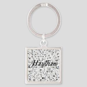 Haytham, Matrix, Abstract Art Square Keychain