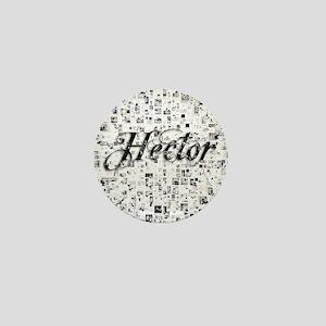 Hector, Matrix, Abstract Art Mini Button
