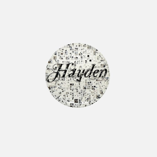 Hayden, Matrix, Abstract Art Mini Button