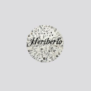 Heriberto, Matrix, Abstract Art Mini Button