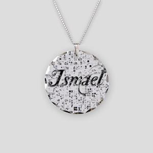 Ismael, Matrix, Abstract Art Necklace Circle Charm