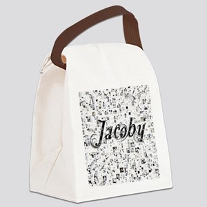 Jacoby, Matrix, Abstract Art Canvas Lunch Bag