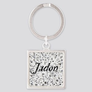 Jadon, Matrix, Abstract Art Square Keychain