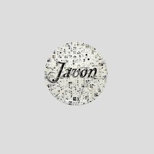 Javon, Matrix, Abstract Art Mini Button