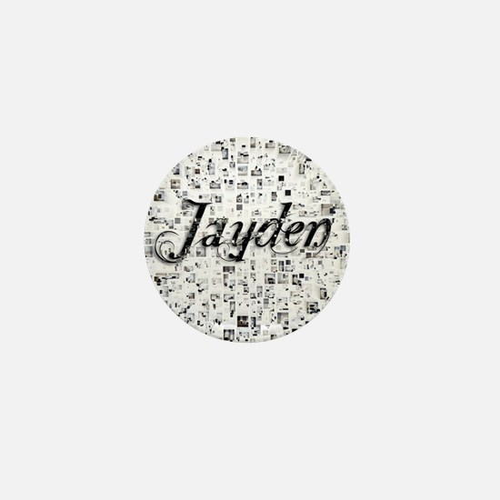 Jayden, Matrix, Abstract Art Mini Button