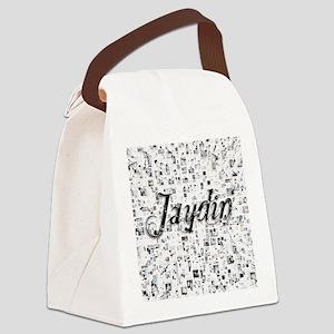 Jaydin, Matrix, Abstract Art Canvas Lunch Bag