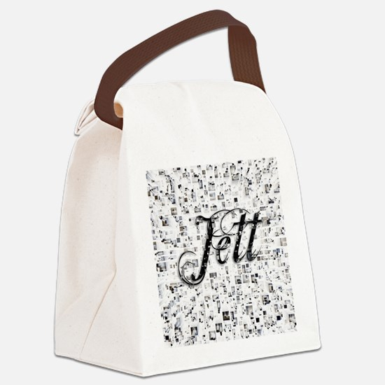Jett, Matrix, Abstract Art Canvas Lunch Bag