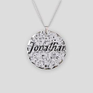 Jonathan, Matrix, Abstract A Necklace Circle Charm