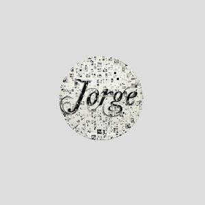 Jorge, Matrix, Abstract Art Mini Button