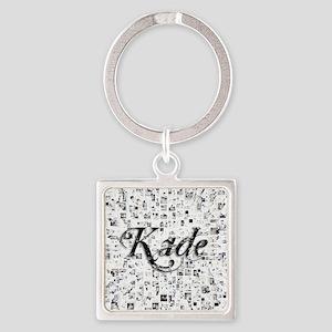 Kade, Matrix, Abstract Art Square Keychain