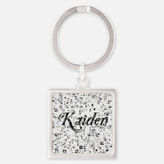 Kaiden, Matrix, Abstract Art Square Keychain