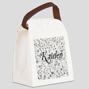 Kaiden, Matrix, Abstract Art Canvas Lunch Bag