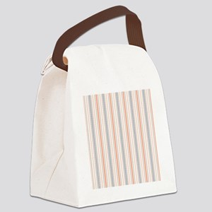 Salmon Stripe Shower curtain Canvas Lunch Bag