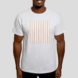 Salmon Stripe Shower curtain Light T-Shirt