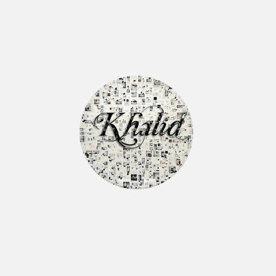 Khalid, Matrix, Abstract Art Mini Button