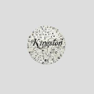 Kingston, Matrix, Abstract Art Mini Button