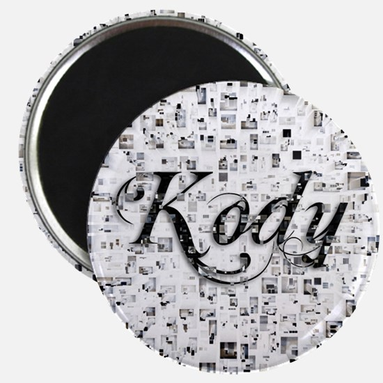 Kody, Matrix, Abstract Art Magnet