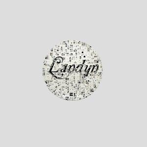 Landyn, Matrix, Abstract Art Mini Button