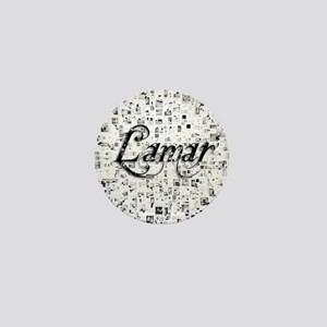 Lamar, Matrix, Abstract Art Mini Button