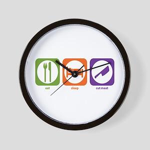 Eat Sleep Cut Meat Wall Clock