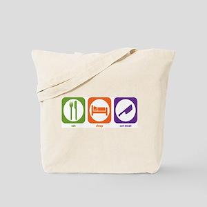 Eat Sleep Cut Meat Tote Bag