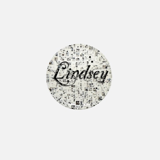 Lindsey, Matrix, Abstract Art Mini Button