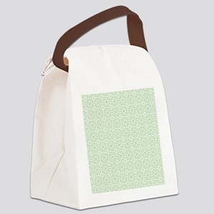 amara pistachio shower curtain Canvas Lunch Bag