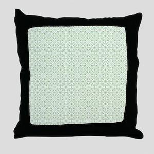 amara pistachio shower curtain Throw Pillow