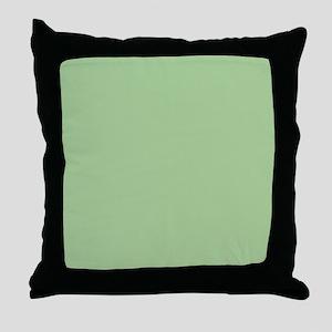 Pistachio plain Shower curtain Throw Pillow
