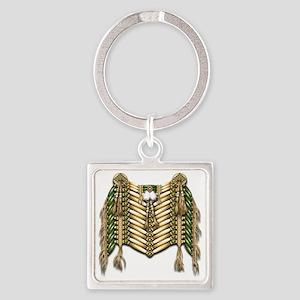 Native American Breastplate 5 Square Keychain