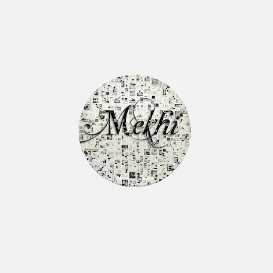 Mekhi, Matrix, Abstract Art Mini Button