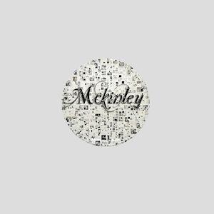 Mckinley, Matrix, Abstract Art Mini Button