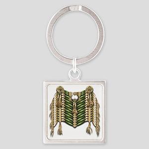 Native American Breastplate 6 Square Keychain