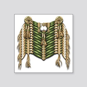 """Native American Breastplate Square Sticker 3"""" x 3"""""""