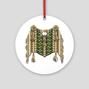 Native American Breastplate 6 Round Ornament